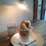 黒糖と柚子のカキ氷